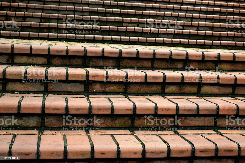 Brick from Stairs or Steps. stock photo