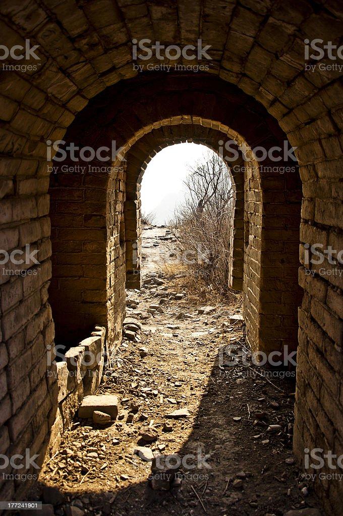 Brick gateway in Jiankou greatwall. royalty-free stock photo