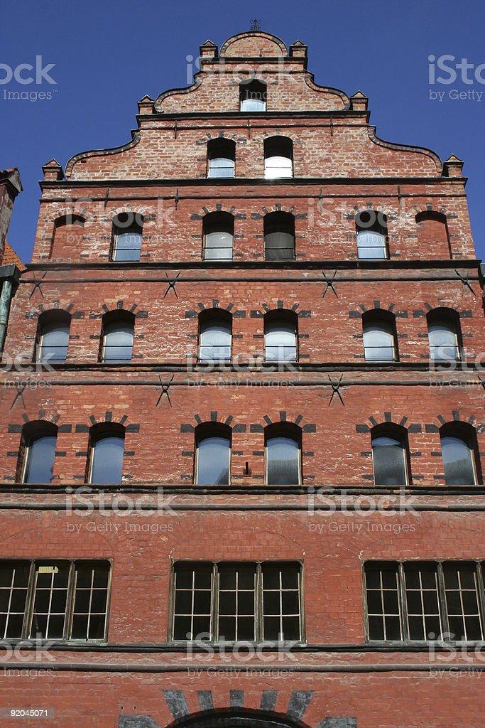 Brick Gothic Facade stock photo
