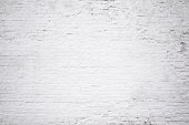 Brick grunge white painted crack wall texture background