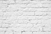 Brick grunge white painted texture background