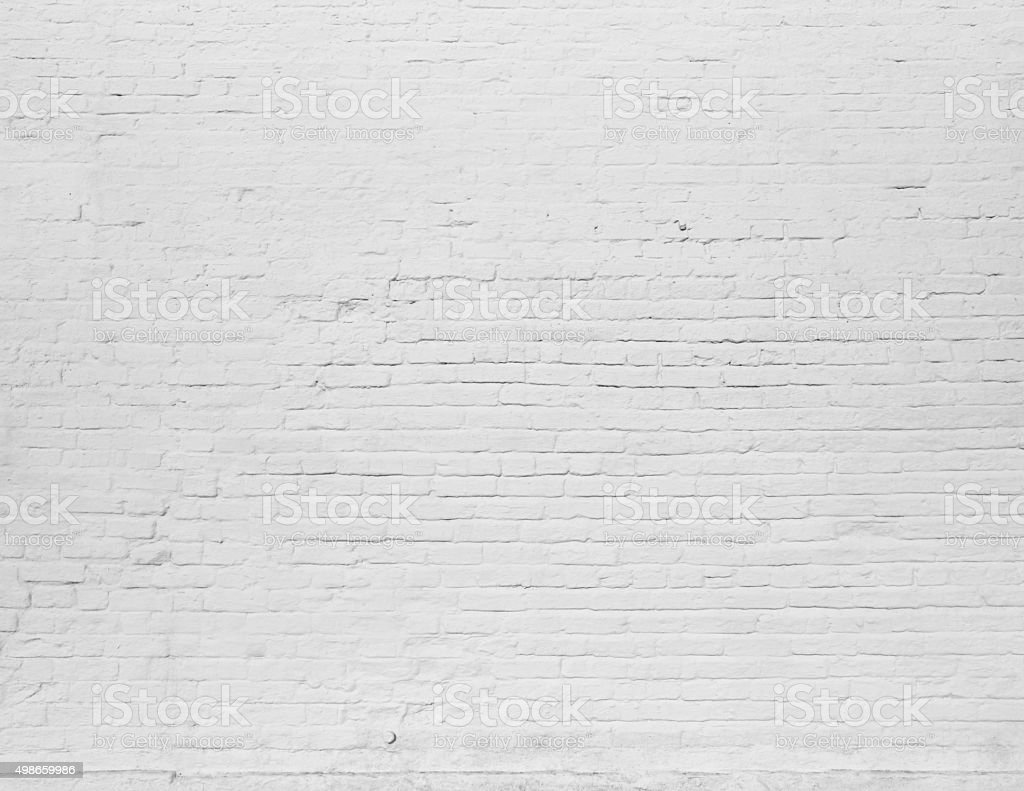 Brick grunge white painted texture stock photo