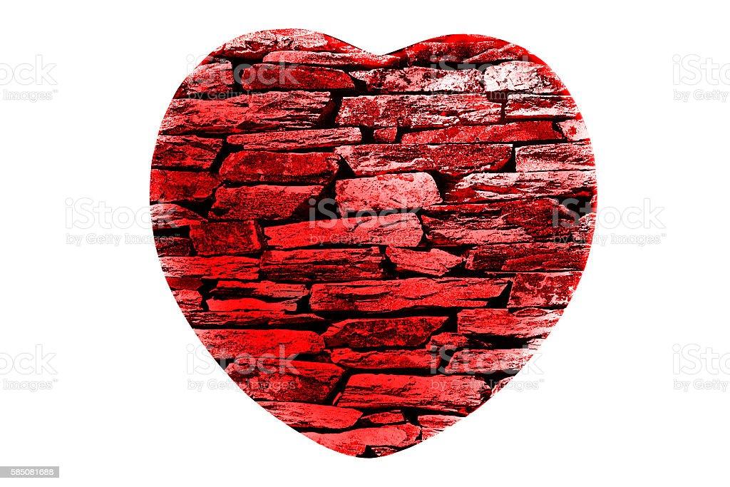 Brick Heart stock photo