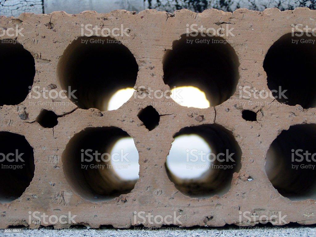 Brick holes texture royalty-free stock photo