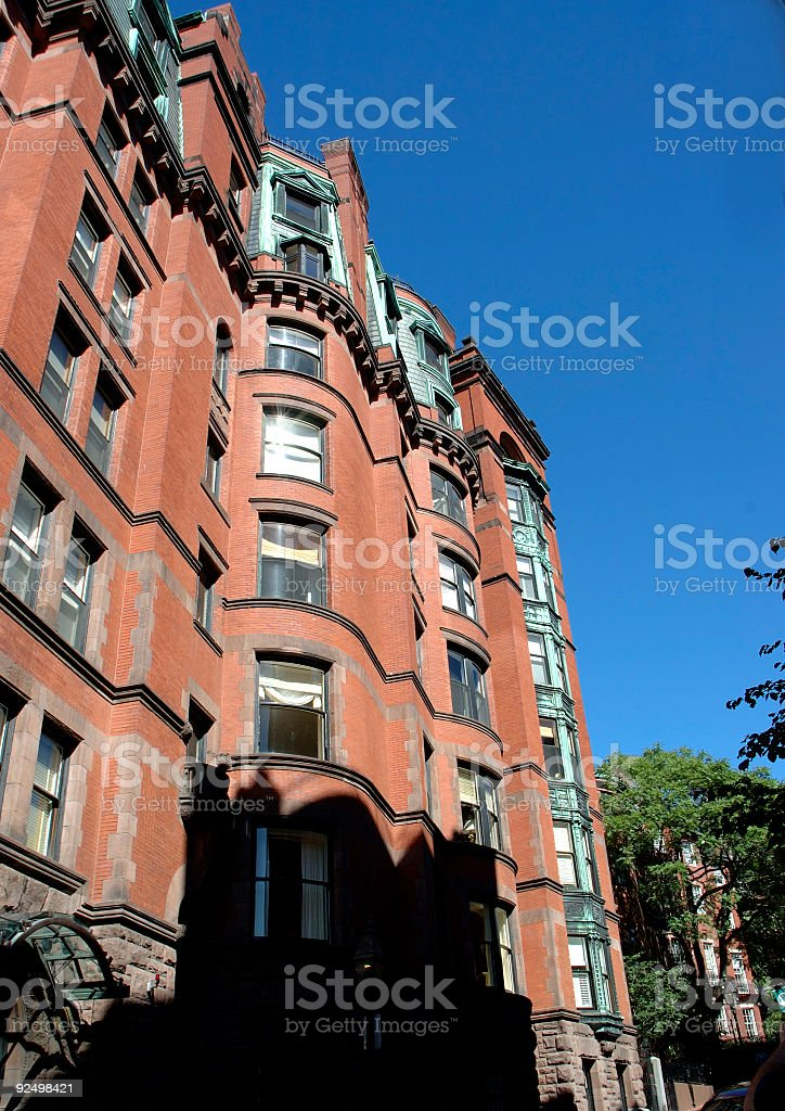brick houses 1 royalty-free stock photo