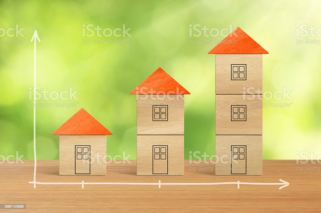 Brick houses stock photo
