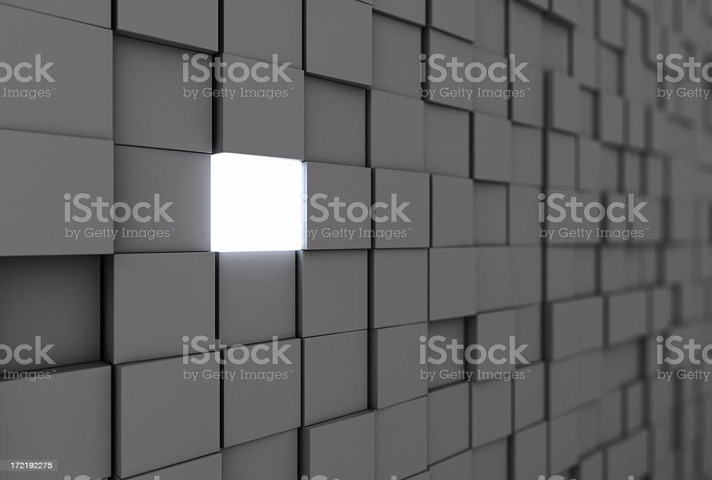 Brick in the wall royalty-free stock photo