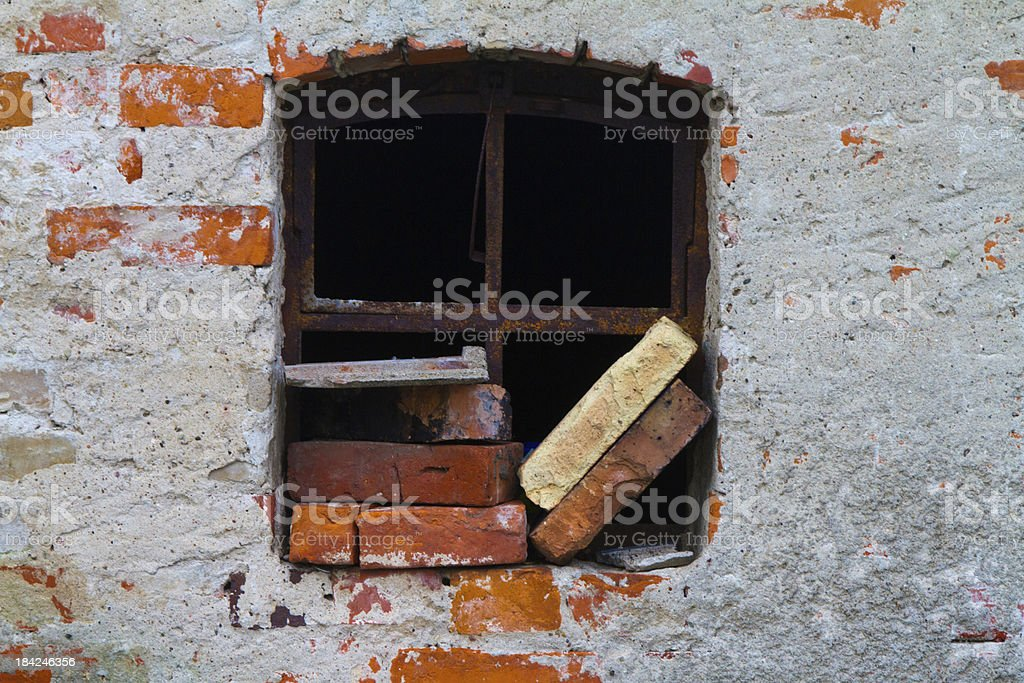 brick in the wall stock photo
