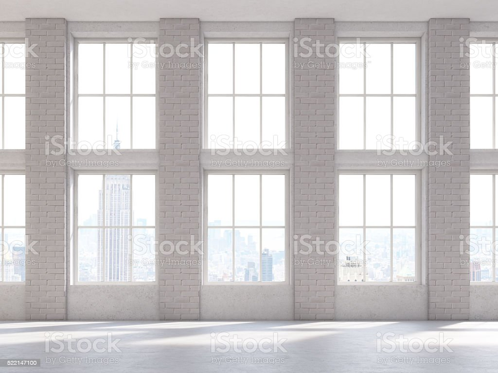 Brick interior front stock photo