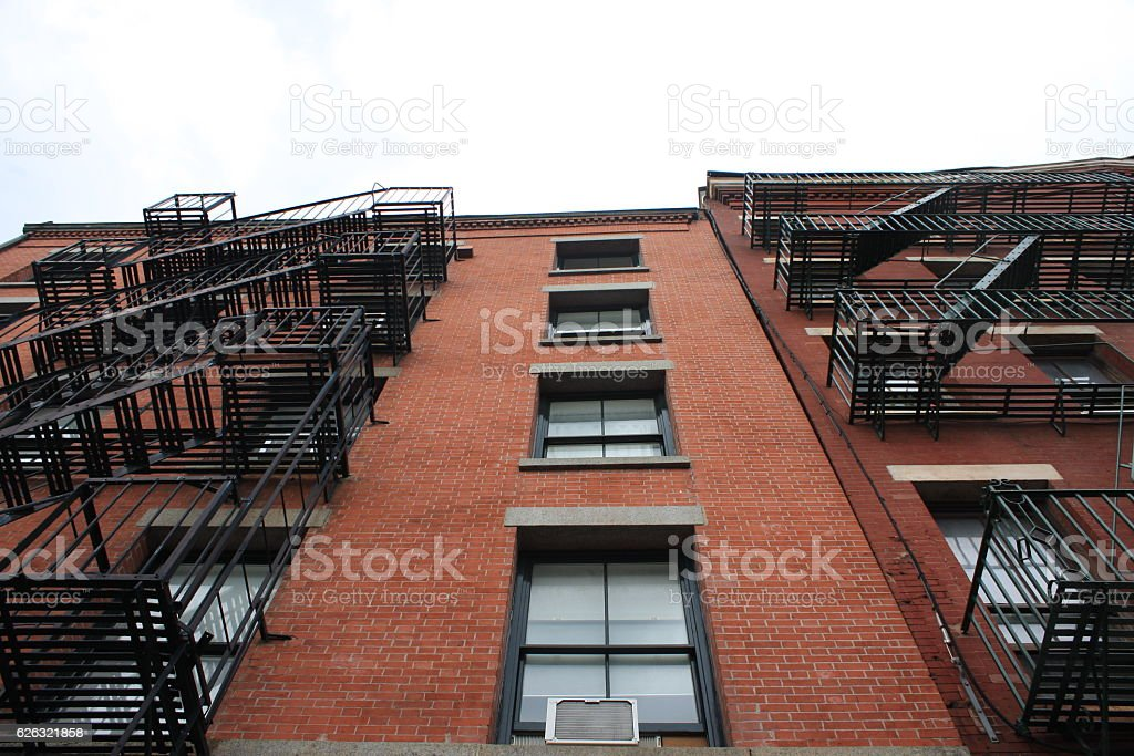 brick & iron building stock photo