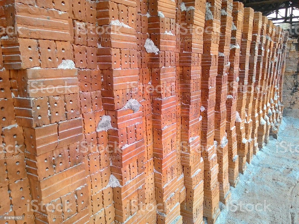 Brick kiln stock photo