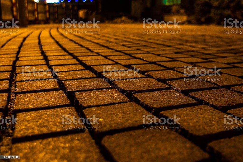 Brick lane at the JBR walk stock photo