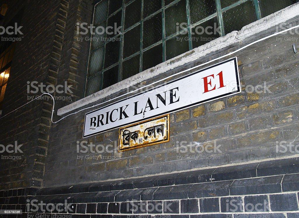 Brick Lane, East London. stock photo