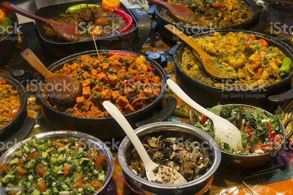 Brick Lane food stock photo