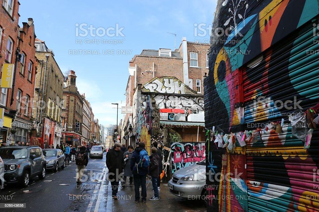 Brick Lane, London stock photo