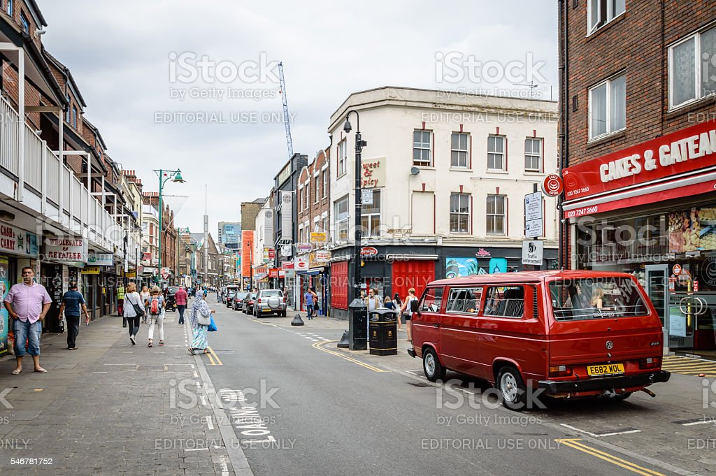 Brick lane view stock photo