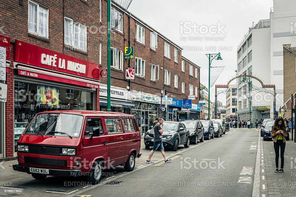 Brick lane view stock photo