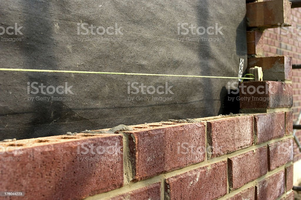Brick Laying Chalkline royalty-free stock photo