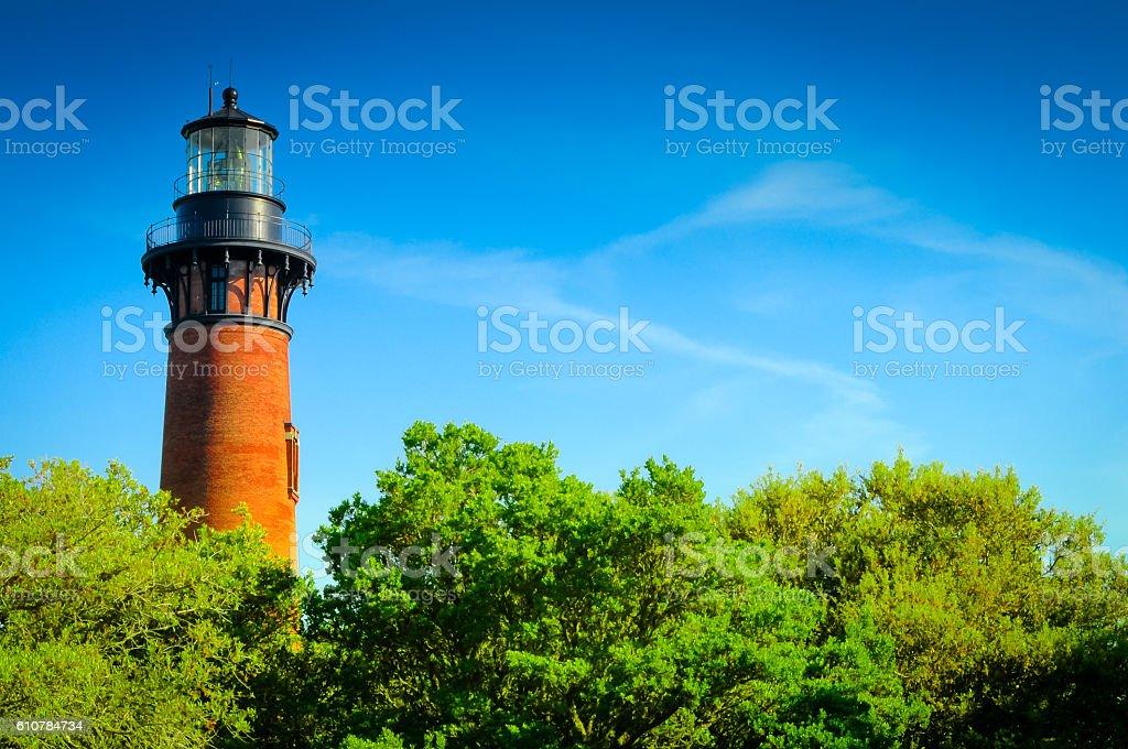 Brick Lighthouse stock photo