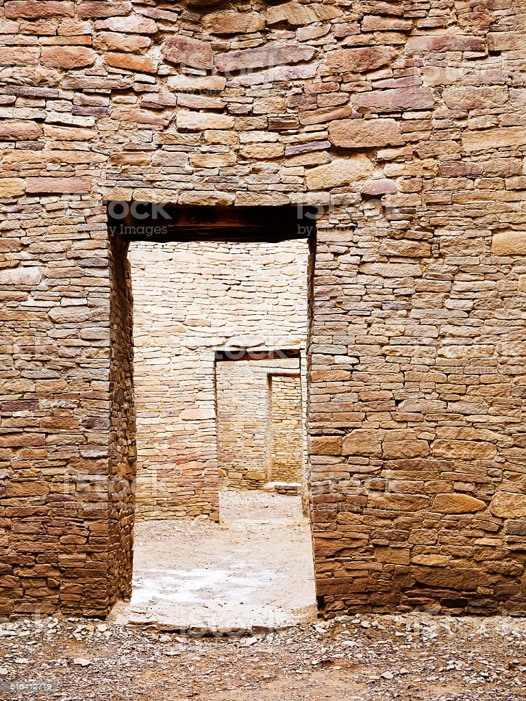 Brick Mansion - Chaco Canyon stock photo