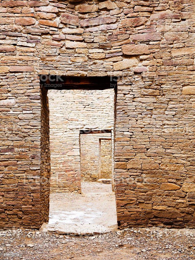 Brick Mansion - Chaco Canyon stock photo