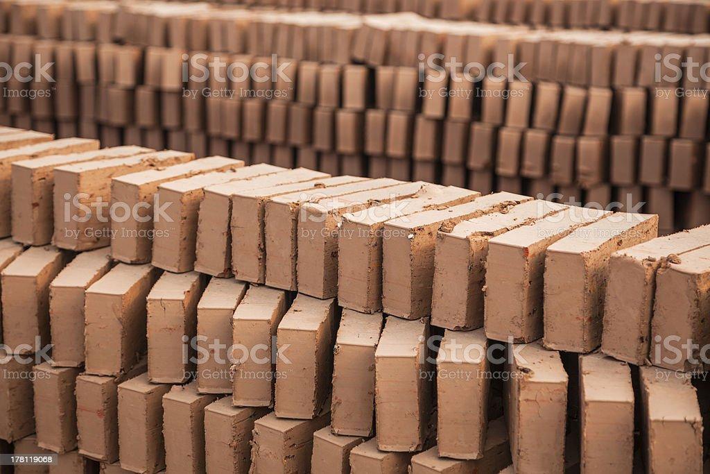 brick mold drying royalty-free stock photo