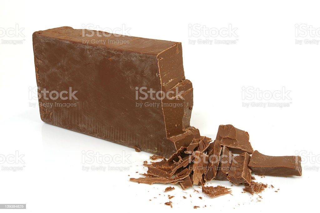 Brick of Old Dutch Milk Chocolate stock photo