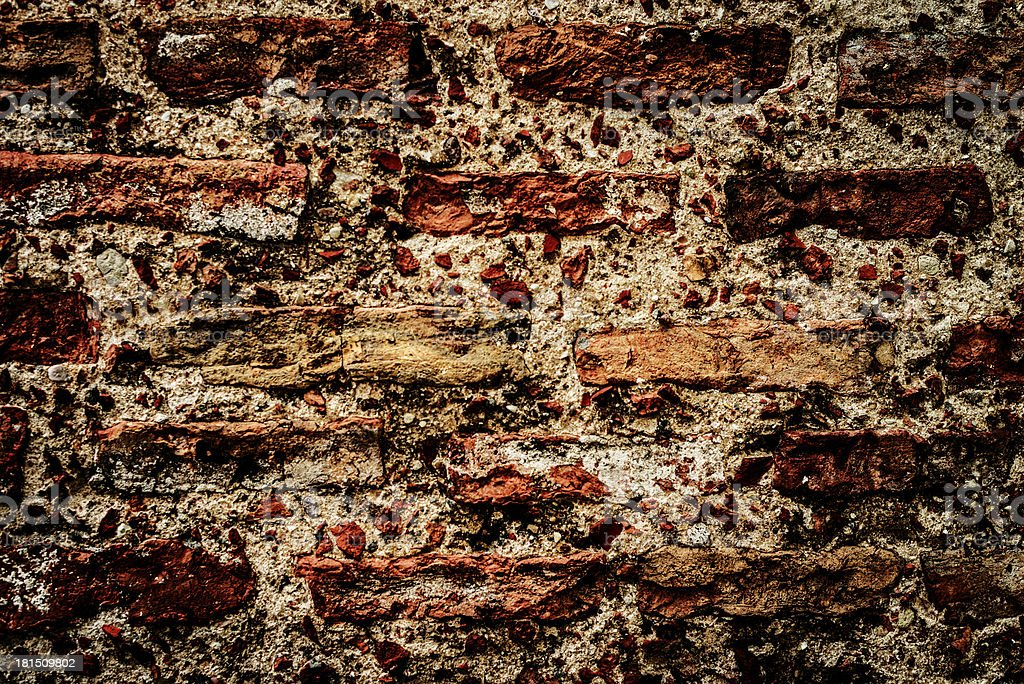 brick old textural wall as background royalty-free stock photo