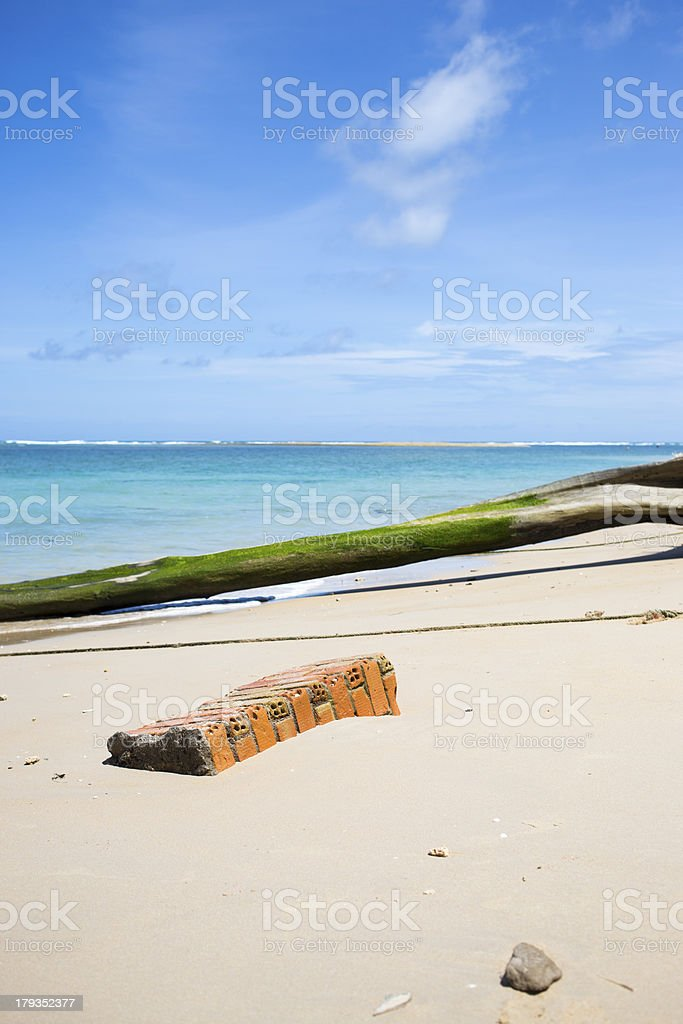 Brick on the beach royalty-free stock photo
