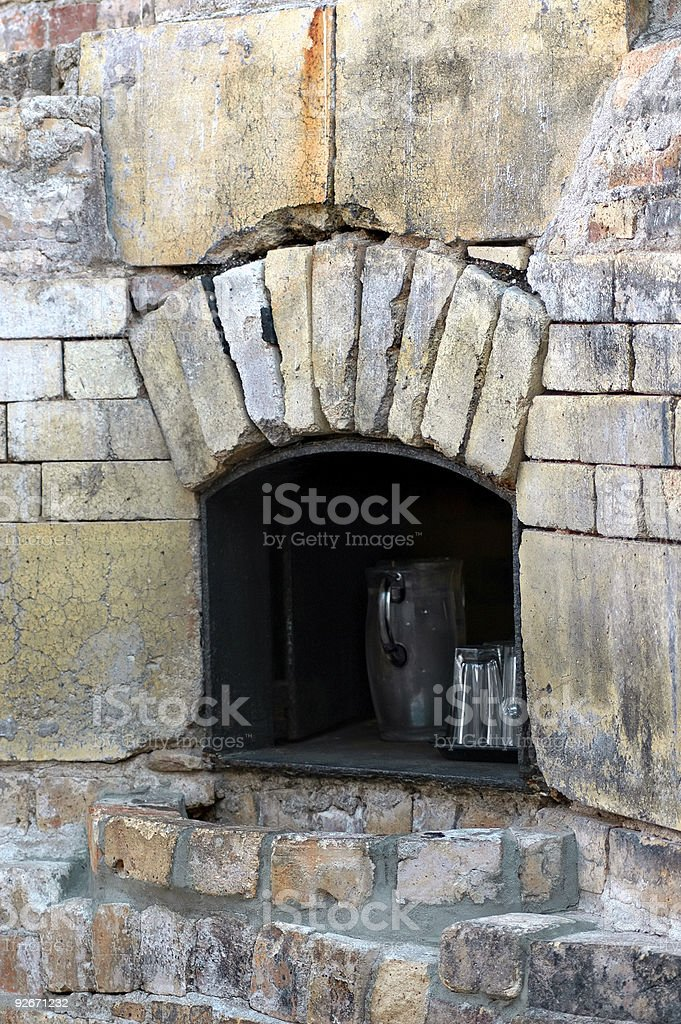 Brick Oven in Cafe royalty-free stock photo