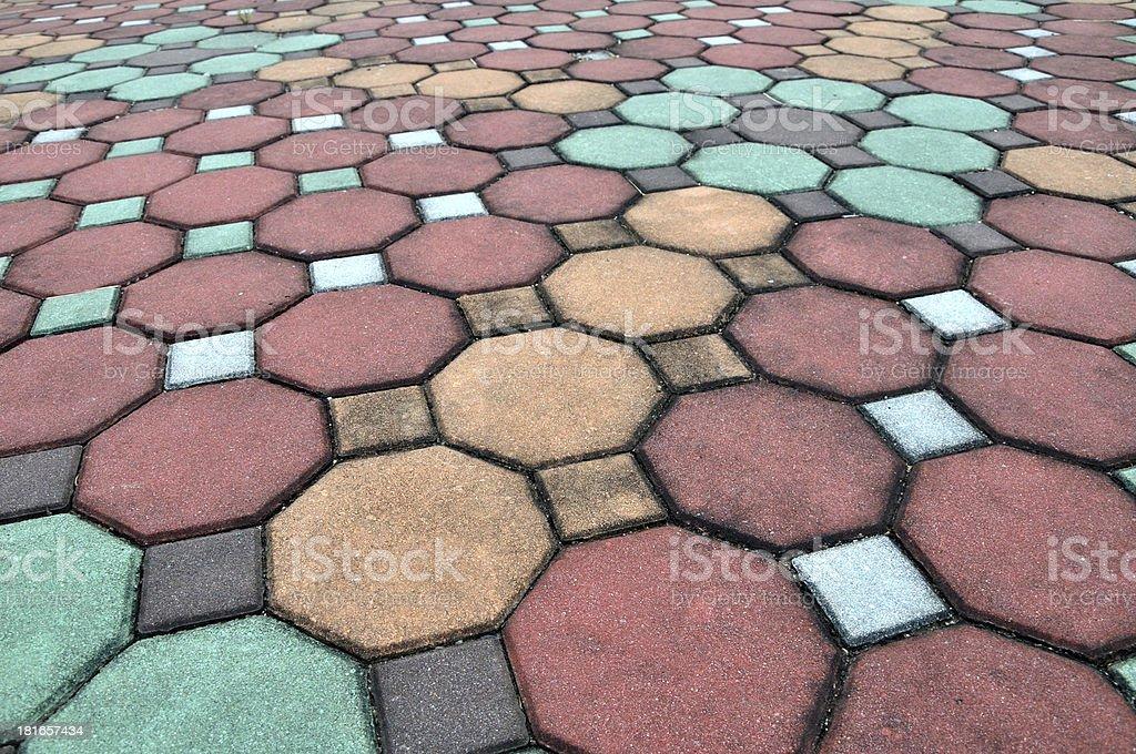 Brick pathway stock photo