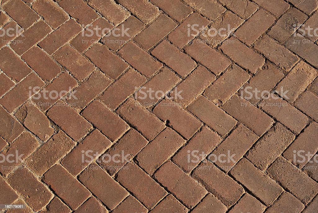 Brick pavement background royalty-free stock photo
