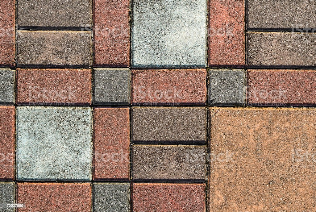 Brick paving pattern stock photo