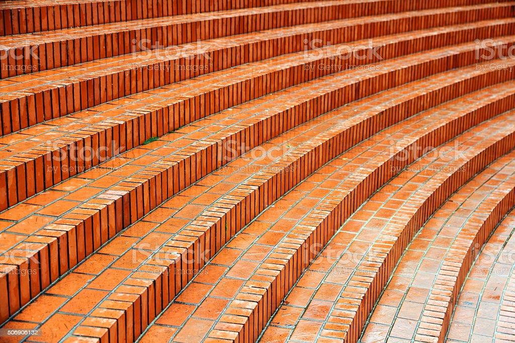 Brick Plaza stock photo