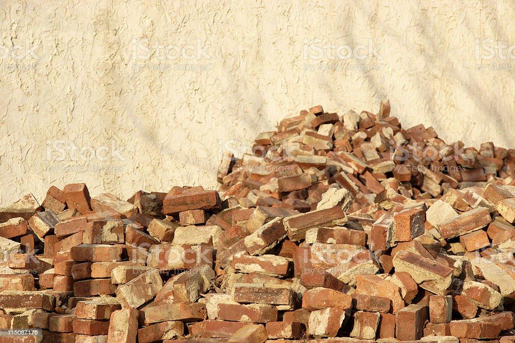 brick rubble pile royalty-free stock photo