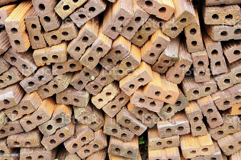 Brick stacked royalty-free stock photo