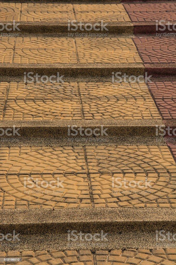 brick stair,Light sidewalk, pavement texture,patterned paving ti royalty-free stock photo