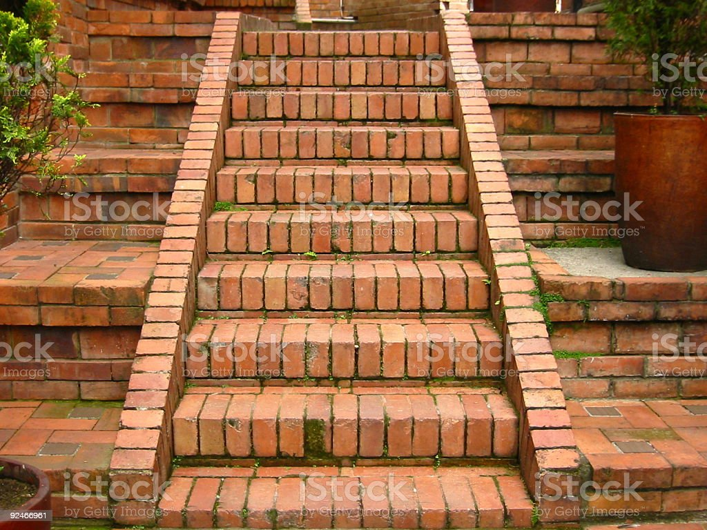 brick stairs royalty-free stock photo