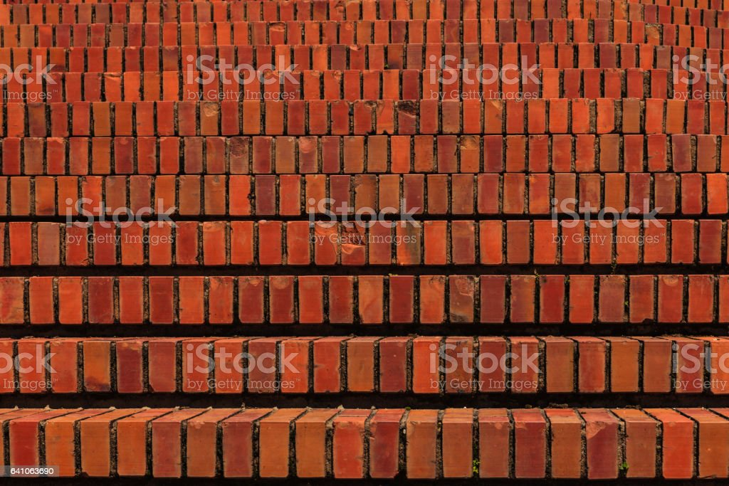 Brick Steps - Architecture Abstract Background stock photo