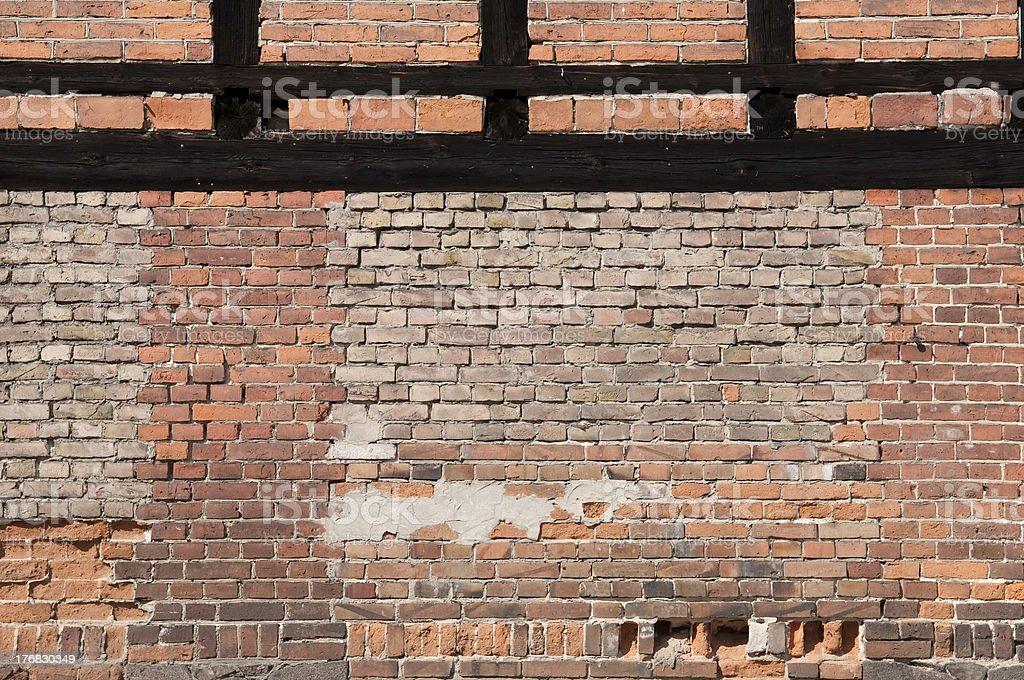Brick stonewall stock photo