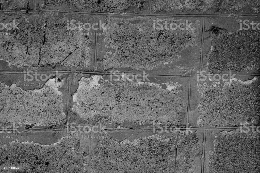 Brick texture with scratches and cracks stock photo