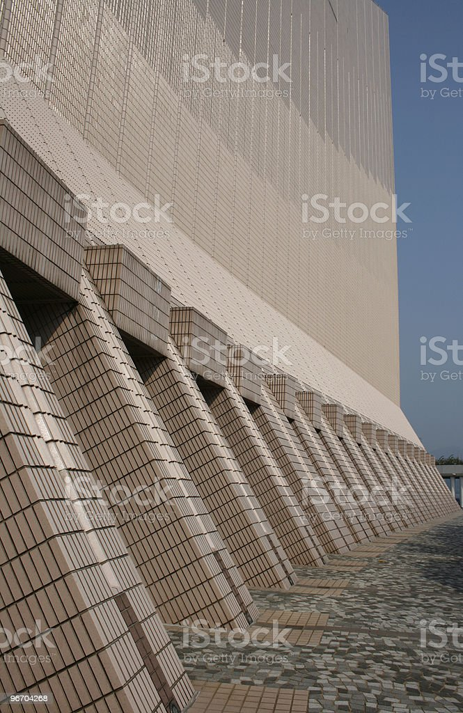 Brick Tile Architecture Repetition royalty-free stock photo