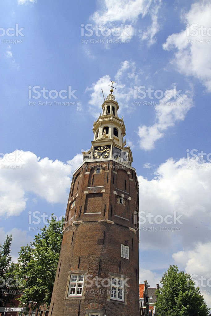 Brick Tower and Blue Sky royalty-free stock photo