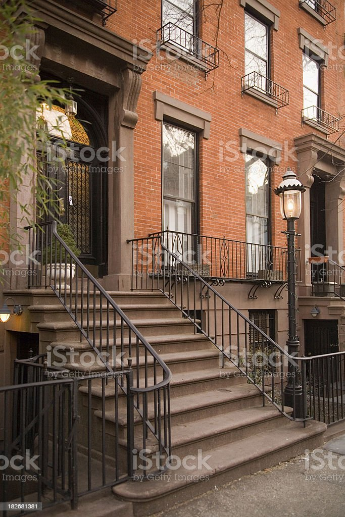 Brick Town House royalty-free stock photo