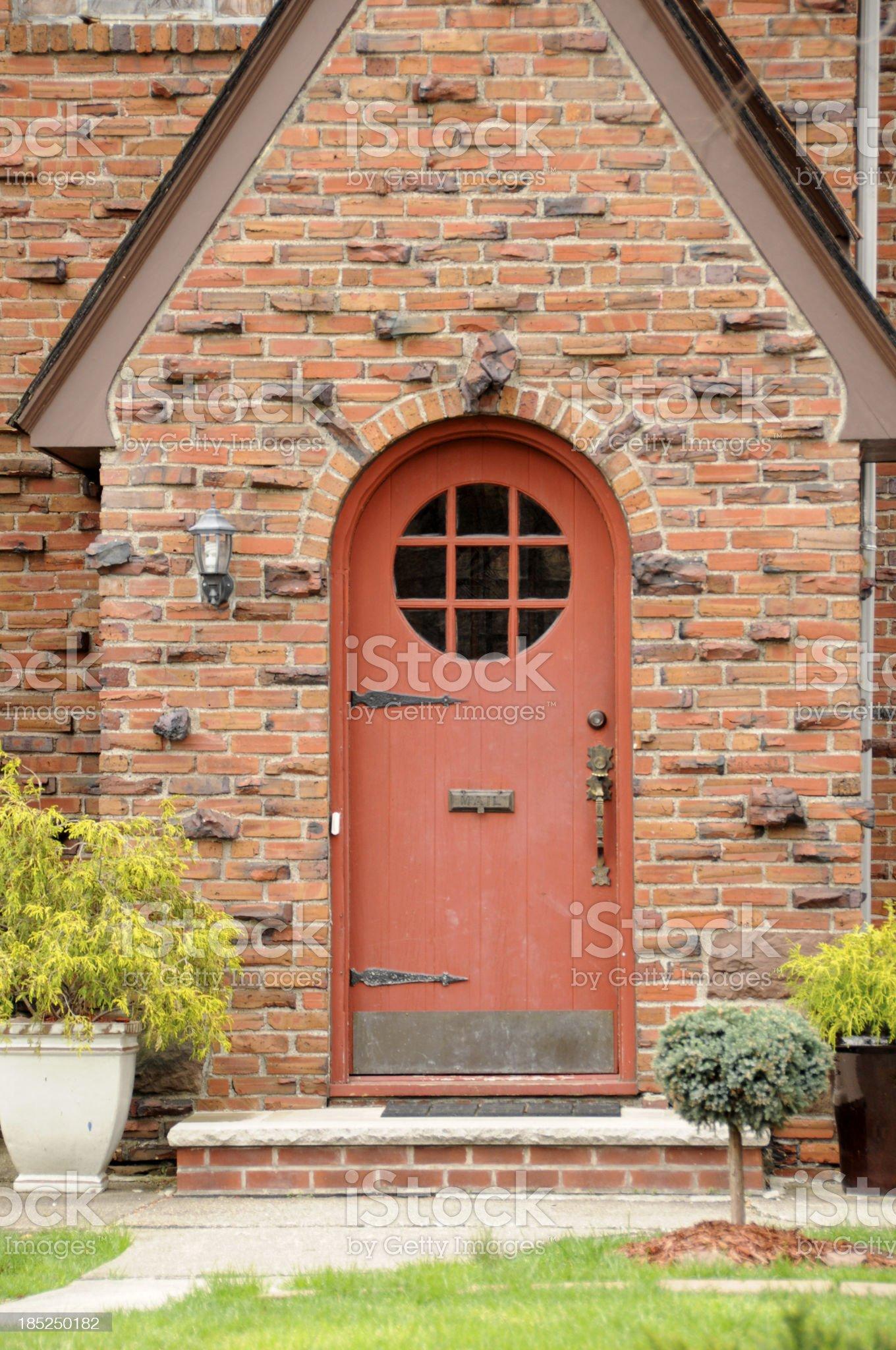 Brick Tudor Door royalty-free stock photo