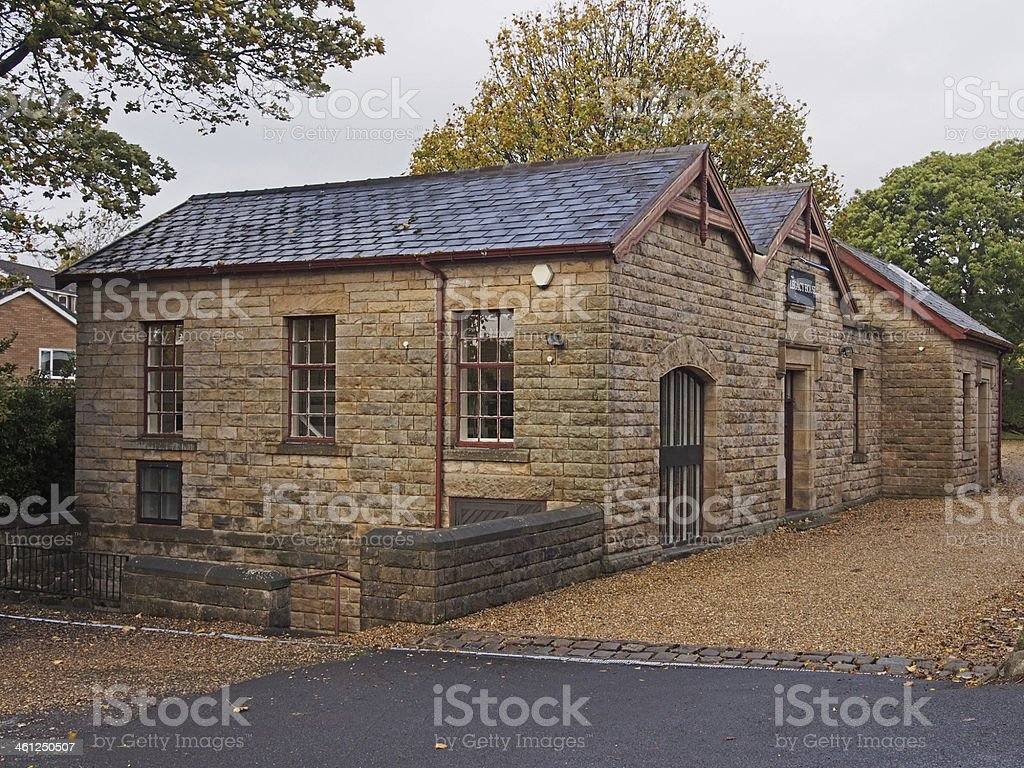Brick Vaulted Victorian reservoir in Clayton-le-woods stock photo