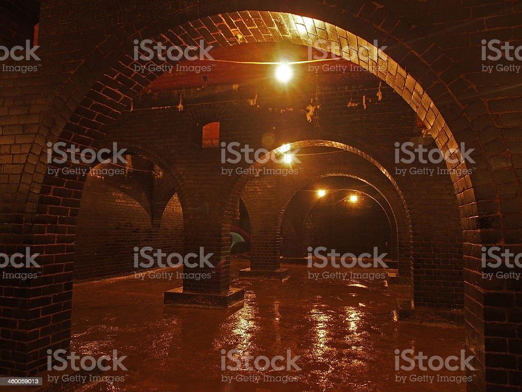 Brick Vaulted Victorian Reservoir stock photo