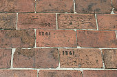 Brick Walkway Etched With Year 1861 and 1981