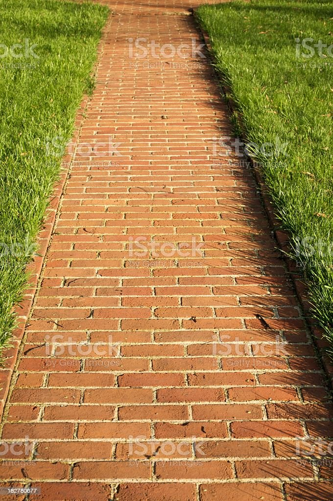 brick walkway royalty-free stock photo
