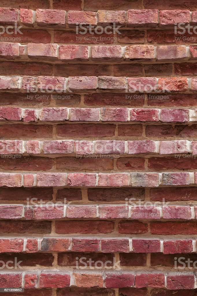 Brick wall architectural background texture stock photo